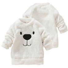 Winter Kids Baby Long Sleeve Sweater Tops Crew Neck Casual Warm Pullover Blouse L34