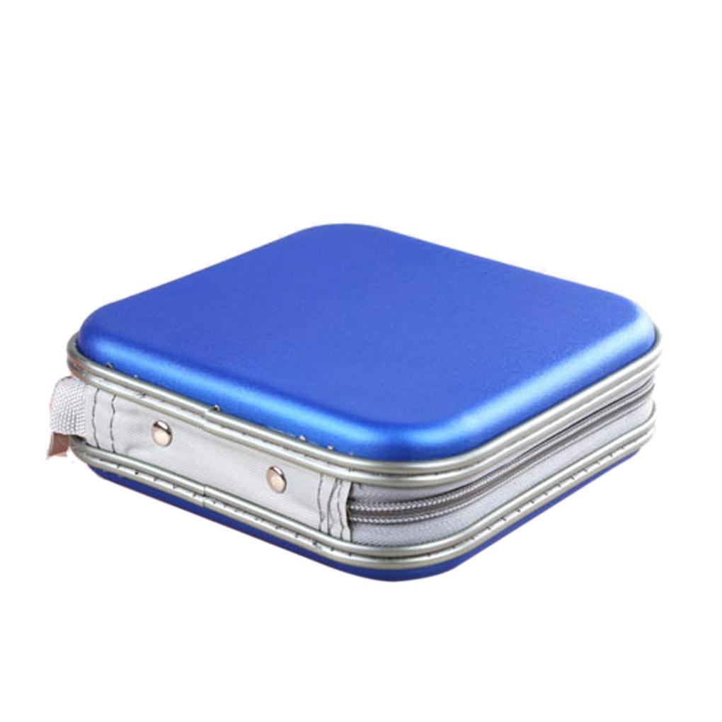 Women fashion useful Popular plastic CD DVD Holder Square Storage Case Box red/blue/black/white/silver(China (Mainland))