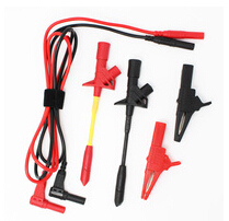 Multimeter test lead set of wires leads test leads alligator clip test probe hook black red<br><br>Aliexpress