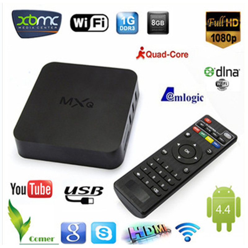 MXQ Android TV Box Amlogic S805 Quad 1G/8G Mali 450 XBMC GPU 4K HDMI 2.4G/5G Dual WiFi Mini PC Smart TV Box(China (Mainland))