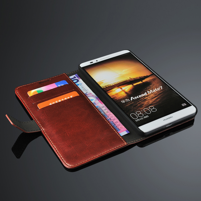 Luxury phone cover Huawei ascend mate 7 leather case Fashion Flip wallet style protective mate7 - Shenzhen SUK Trading Co., Ltd store