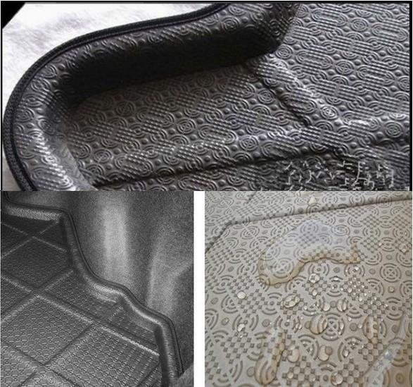 FIT FOR Skoda Fabia Octavia Superb Yeti Car Styling Dedicated car Trunk Mat Floor Mat car tail box pad Refit auto accessories(China (Mainland))