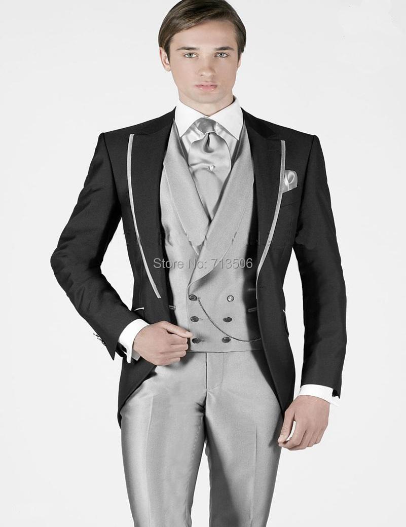 Wholesale- Italian Suit 2017 New Arrival Grey Pants Men Wedding ...