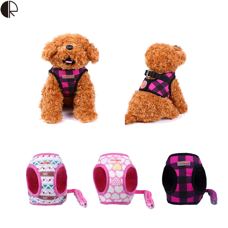 Fashion Comfortable Cloth Pet Small dog harness Leash Chihuahua Pet Shop dog Supplies Arnes Perro correa Accessories Hp 743(China (Mainland))