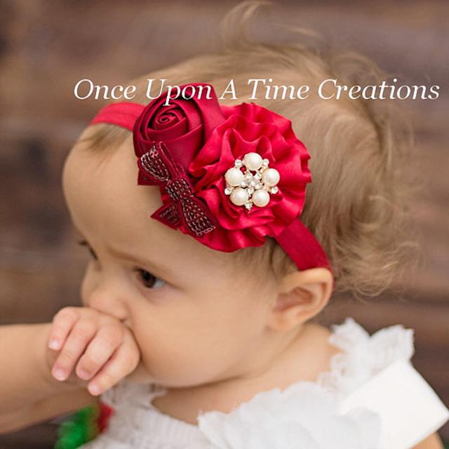 Девочки цветок ободки роуз перл головные уборы дети аксессуары 2015 новинка стиль ...