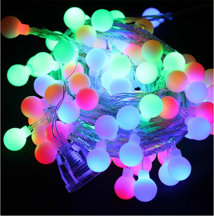 10M 100 LEDs 110/220V Waterproof IP65 Outdoor Multicolor Christmas LED String Lights Holiday Wedding Party Decotation(China (Mainland))