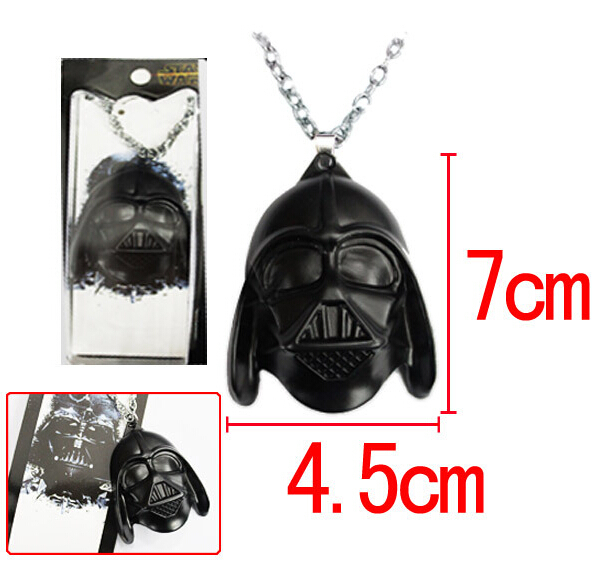 2105 New style Star Wars The black knight metal pendant necklace Hot Movie Mask Chain Necklace For Men 10pc/lot(China (Mainland))
