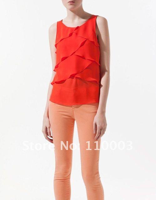 Scales chiffon vest chiffon shirt A622