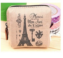 2015 hot Fashion women men canvas coin purse Vintage Wallets bolsas credit card wallet carteira feminina