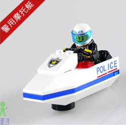 Building blocks, Educational Toy, Police motorboat with Figures, Environmental block&bricks,Intelligence development(China (Mainland))