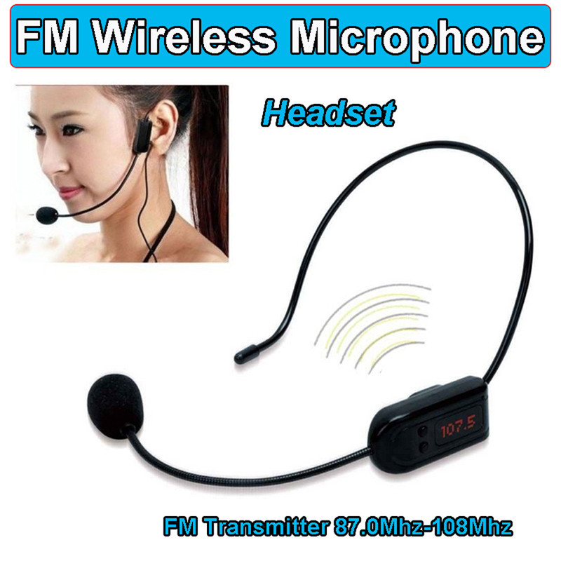 Top Quality! COMLYO FM Wireless Microphone Headset Megaphone Radio Mic For Loudspeaker Teaching Meeting Tour Guide Microphones(China (Mainland))
