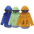 Fashin Boys Trench Coats Hooded Kids Jackets 1 6Y Children s Windbreaker Baby Boys Outerwear Kids