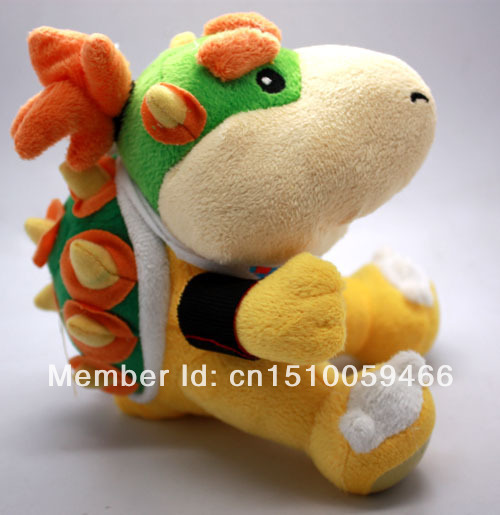 "Super Mario Brothers Bowser Jr./Koopa Plush stuffed dragon plush toy 7""US SHIP(China (Mainland))"