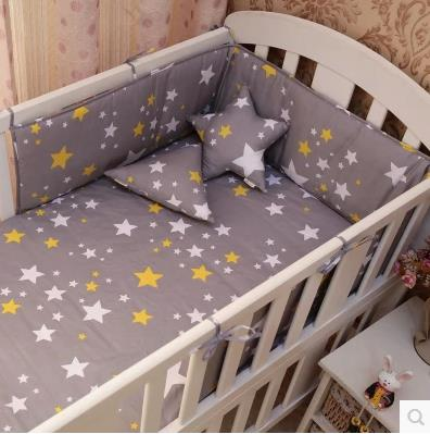 9 Color Nordic Style Baby Bumpers Cotton Printing Soft Anti-Collision Baby Cot Bumpers Bed Around Crib Cozy Decoration 1pcs