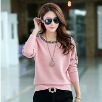 2016 autumn beand sweaters plus size 3XL batwing sleeve sweater women loose pullover sweater o-neck short design thin outerwear