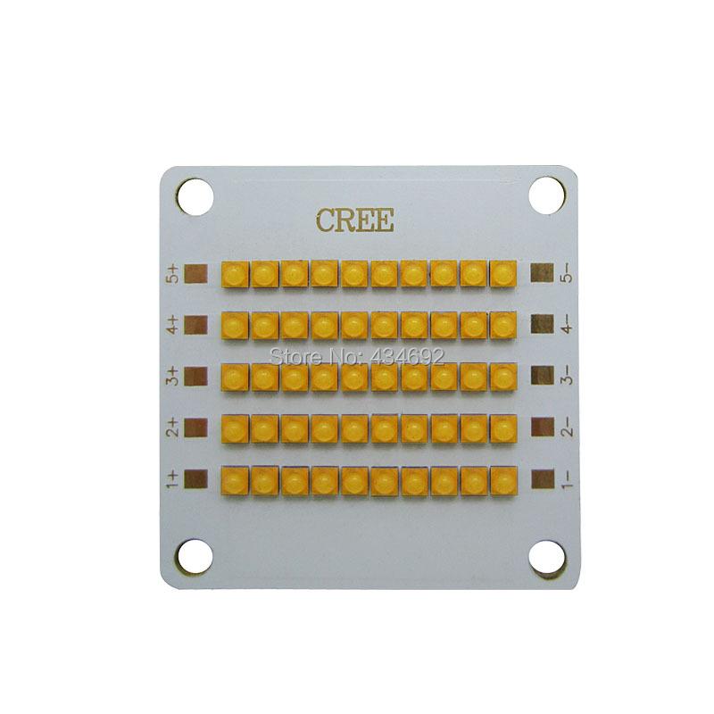 10 series 5 parallel Cree XB-D XBD 50W Led Emitter Light White 6000-6500K/Warm White 3000-3500K 30-34V 350mA Copper PCB Board(China (Mainland))