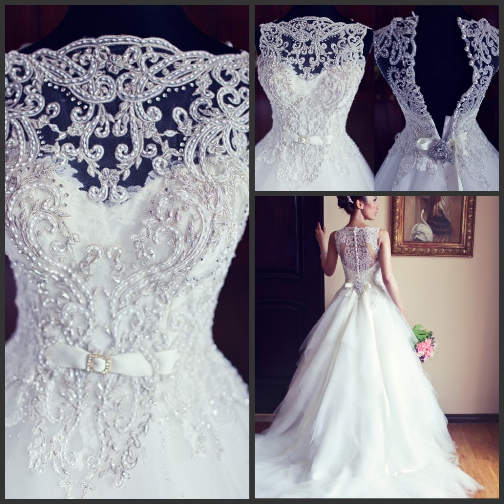 Sexy new sleeveless a line tullle wedding dresses applique for Dresses for court wedding