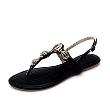 Thong Sandals For Women 2016 Summer New Discount Hot Sale Non-slip Flat Clip Toe Shoes Size 38 39 Billige Frauen Sandalen(China (Mainland))