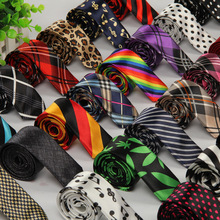 20 patterns Ties for men Korean 5cm Slim Neck ties Polyester Silk Striped Dot Skull printed leisure Tie Male party High quality