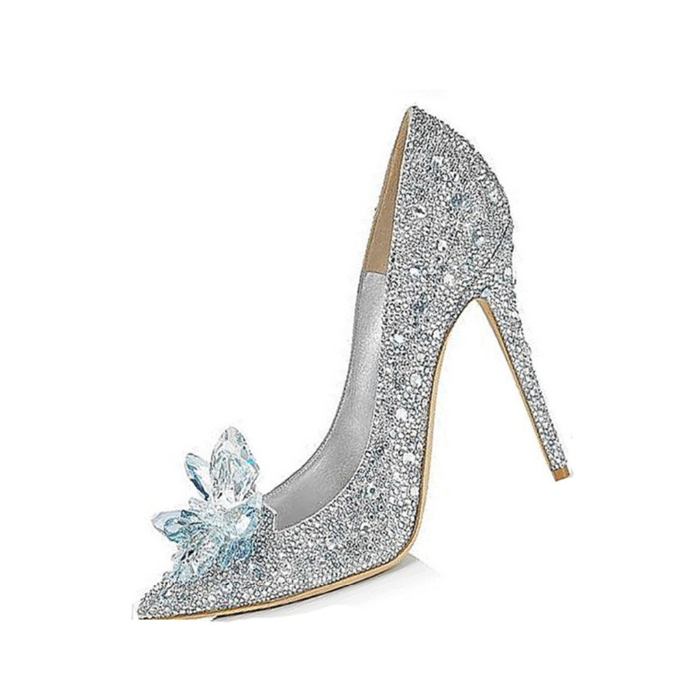 2016 Free Shipping Fashion Shoes Woman Pointed Toe Thin Heels High Heel PU Pumps with Rhinestone <br><br>Aliexpress