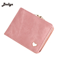 Fashion Solid Golden Heart Clutch Wallet Colorful Lady Lovely Coin Purse Large Capacity Zipper Women Small