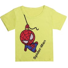 New 2016 boy's t shirt Spiderman cotton short-sleeved t-shirt printing children's cartoon gray kids boys child's clothes