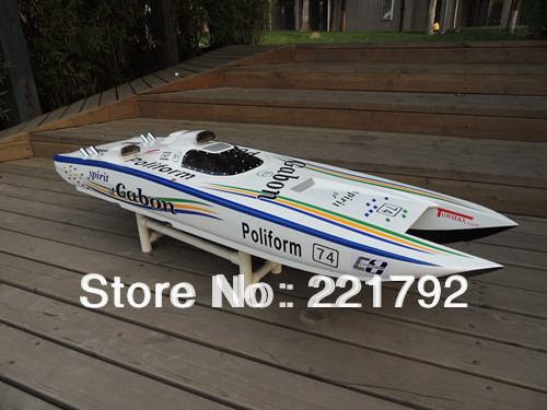 26CC Petrol Gas RC Racing Boat w/ catamaran FRP hull RTR-in RC Boats ...