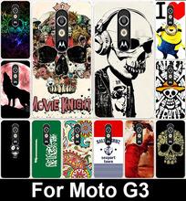 Cool Skull Head Life Wolf Soft TPU Phone Cases Motorola Moto G3 G 3rd Gen XT1541 XT1542 XT1543 Cover Bags - R-mart store