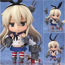 Hotsell 10 cm anime japonés figuras Nendoroid Kantai colección #371 isla de viento muñeca de colección modelo de juguete adulto