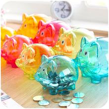 Home Scandinavian style transparent piggy creative birthday gift children piggy bank(China (Mainland))