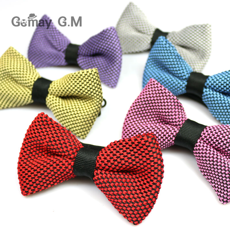 New Men Neck Knitted Bowtie single Mens Bow Tie Pre-Tied Adjustable Knit Bowtie for wedding(China (Mainland))