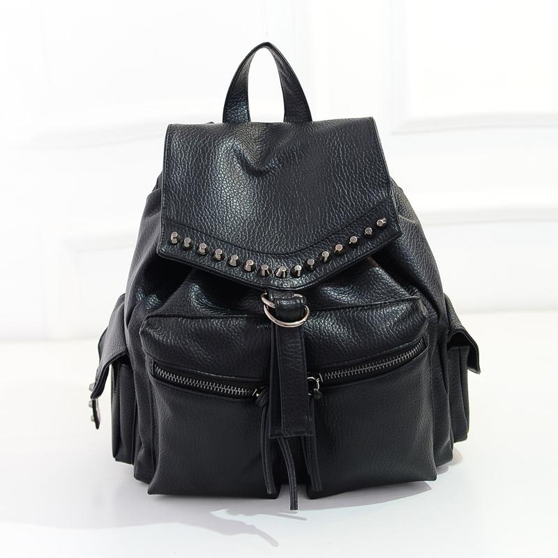 bucket shape designed backpack street school style backpacks PU leather soft handle mochila hot on sale top quality(China (Mainland))