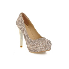 Women's Shinning Closed Toe Pumps Sexy High Heels Shoes Ladies Big size 34-43 Party Dress 4 Colors Waterproof Pumps(China (Mainland))
