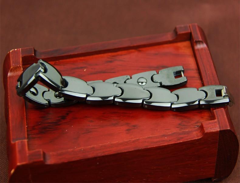 New arrival space porcelain male bracelet black bracelet radiation-resistant anti fatigue germanium magnet health care fashion cheap