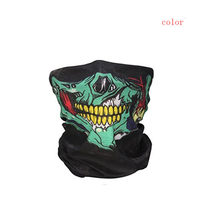 Festival Skull Masks Skeleton Halloween Scary Mask Outdoor Motorcycle Bicycle Multi Masks Scarf Half Face Mask Cap Neck Ghost(China)