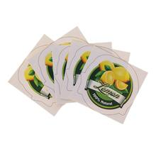 5Pcs Sticker Labels Fruit Pattern DIY Scrapbook Decoration Paster For Slime Mud Light Clay Ornaments Storage Box Container(China)
