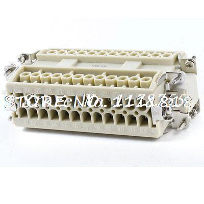 Cable Entry 24 Ways Male to Female Industrial Connector 500VAC 16A 6KV
