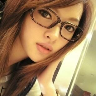 Y03 mol vintage glasses big black rubric for non-mainstream leopard print eyeglasses frame plain mirror