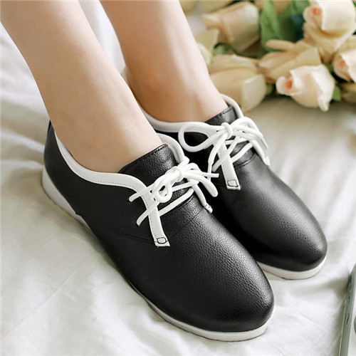 Large Size 40 Fashion Ladys Flats Spring Round Toe Casual Footwear Female Solid Plain Yellow Silver Shoes<br><br>Aliexpress