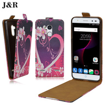 J&R ZTE Blade V7 Lite Case PU Leather Painting phone Cover Vertical Flip Phone bag - Cyboris Technology Co., Ltd. store