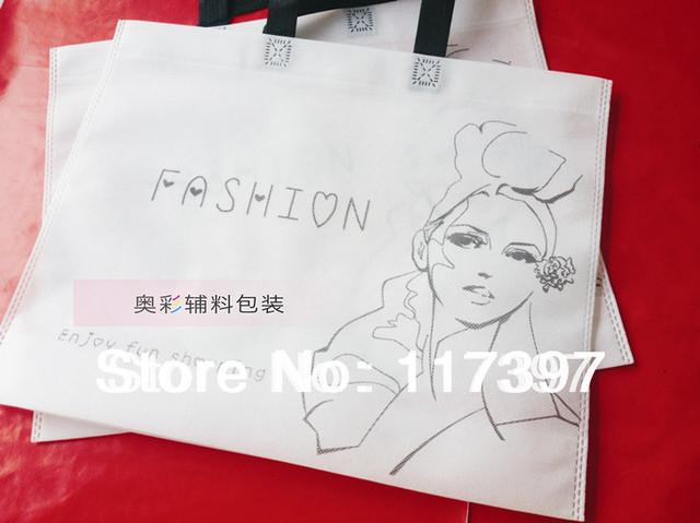 70g  non woven shopping bags Customized logo 20 pcs/lot  32*40*2.5 cm