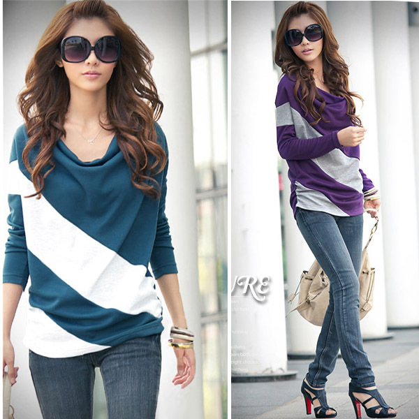 Buy new fashion womens batwing long for Long t shirts for ladies online