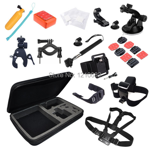 Gopro Accessory 30 In 1 Bundles Set + Kit Chest +Head Strap+Floating Grip +