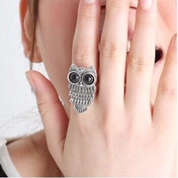 Гаджет  HOT SALE 2 Color 2014 Trendy Korean Jewelry Zinc Alloy Metail Retro Owl Ring For Women Fashion Jewelry None Ювелирные изделия и часы
