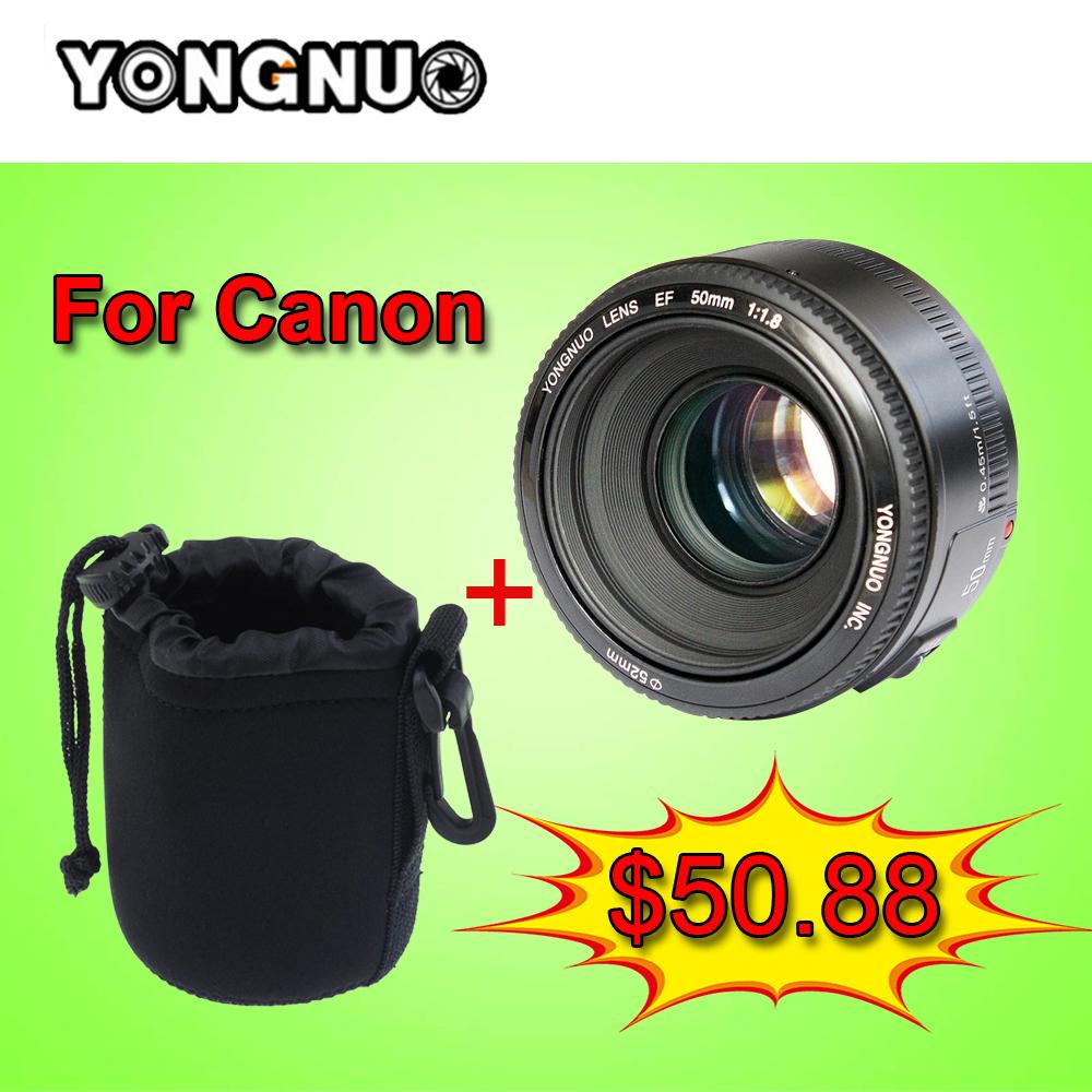 YONGNUO YN50MM F/1.8 Large Aperture Auto Focus Lens yn50mm AF/MF Lense Canon EOS Nikon DSLR Camera 50mm f1.8 lens Technology Co, Ltd Wholesale Store)