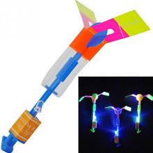 Fashion Hot Funny Shining Rocket Flash Copter Arrow Helicopter Neon Led Light For Party Light-Up Toys(China (Mainland))