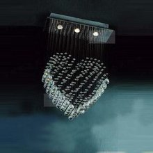 lights Modern Crystal Lamp Heart-shaped crystal chandeliers Simple lighting fixturesA8862(China (Mainland))