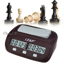 Leap digital chess clock count up down timer scheda elettronica giocatore del gioco set portable handheld leap PQ9907 uomo piece master 48 w(China (Mainland))