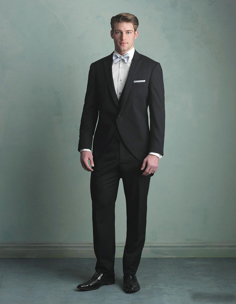 Perfect Black Suit For Wedding Inspiration - All Wedding Dresses ...