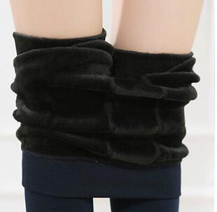 winter warm velvet women leggings, Women Bamboo inside Thicken Fur Warm Leggings womens winter clothes plus size pants / 1(China (Mainland))